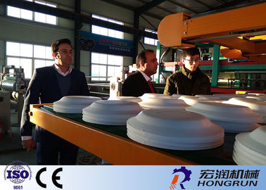 Eco Friendly High Speed PS Foam Plate Making Machine With Automatic Robot arm & Disposable Lunch Box Making Machine on sales - Quality Disposable ...